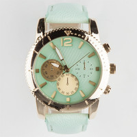 Chronograph Face Watch Mint One Size For Women 25190552301
