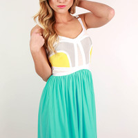 Style in the City Dress in Aqua
