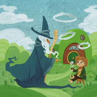 the Wandering Wizard 8x8 print by theGorgonist on Etsy