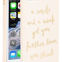 Women's kate spade new york 'a smile and a wink' iPhone 5& 5s case - Pink