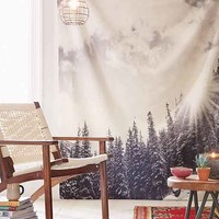 Bird Wanna Whistle For DENY White Mountain Tapestry- White One