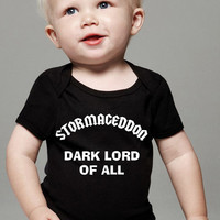 Babies Toddler Doctor Who Inspired Stormageddon Dark Lord T-Shirt