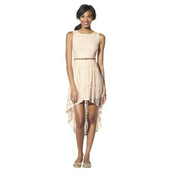 Xhilaration® Junior's Lace High Low Maxi Dress - Natural