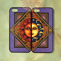 Sun and Moon Couple Case-iPhone 5 case, iphone 4scase, 4 case,ipod touch 5  Samsung GS3-Silicone Rubber or Hard Plastic Case, Phone cover