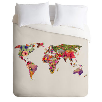 Bianca Green Its Your World Duvet Cover