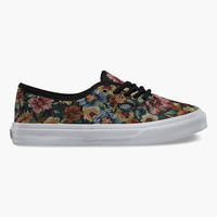 Vans Tapestry Floral Authentic Womens Shoes Black  In Sizes