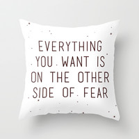 fear Throw Pillow by Courtney Burns