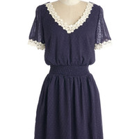 ModCloth Mid-length Short Sleeves A-line Belle Me About It Dress