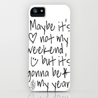 Maybe It's Not My Weekend But It's Gonna Be My Year All Time Low Lyrics iPhone & iPod Case by andrialou | Society6