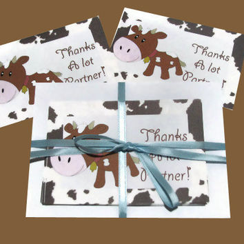 Thank You Cards - Western Cow Themed