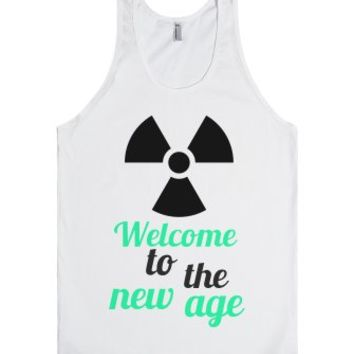 Welcome-Unisex White Tank