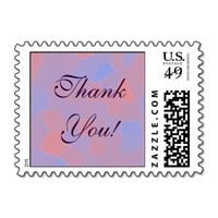 Pink and Purple Mosaic Abstract Stamp