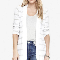 STRIPED CONVERTIBLE SLEEVE COVER-UP from EXPRESS