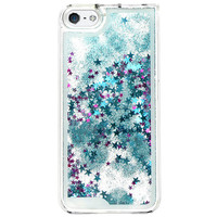 GLITTER WATERFALL IPHONE CASE BLUE