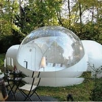 Inflatable bubble tent outdoor with 2 tunnels
