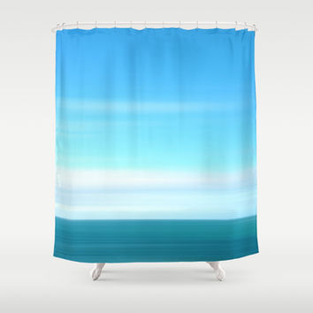Speed blue Shower Curtain by Tony Vazquez