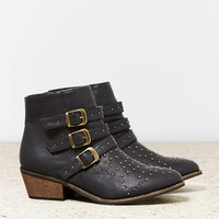 AEO Women's Studded Buckled Bootie