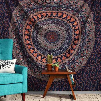 Magical Thinking Logan Medallion Tapestry- Blue One