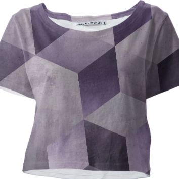 Grape & Gray croptop created by duckyb | Print All Over Me