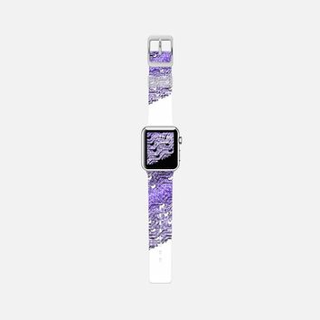 Purple glitters Apple Watch Band case by VanessaGF | Casetify