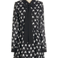 ModCloth Quirky Mid-length Long Sleeve Boston Found Dress