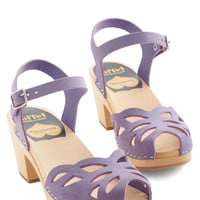 Swedish Hasbeens Pastel Butterfly Wishes Heel