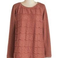 ModCloth Mid-length Long Sleeve Oh FrappC) Day Sweater