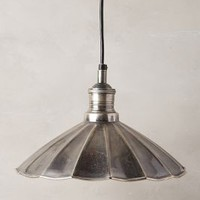 Scalloped Brass Pendant Lamp by Anthropologie Black One Size Lighting