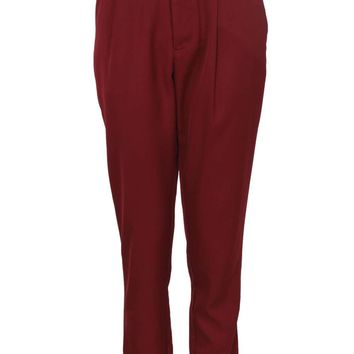 Mandy High Waisted Belted Woven Trousers