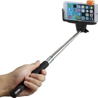 Selfie Stick, Flexion™ QuickSnap Pro 3-In-1 Self-portrait Monopod Extendable Wireless Bluetooth Selfie Stick with built-in Bluetooth Remote Shutter With Adjustable Phone Holder for iPhone 6, iPhone 6 Plus, iPhone 5 5s 5c, Android