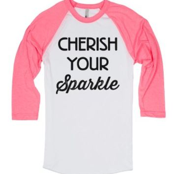 Cherish Your Sparkle-Unisex White/Neon Heather Pink T-Shirt