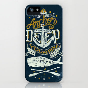 Anchor Deep iPhone Case by Nathan Yoder | Society6