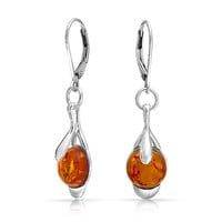 Bling Jewelry Honey Leaf Earrings