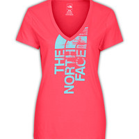 The North Face Women's Shirts & Tops Tops WOMEN'S SHORT-SLEEVE WHITE NOISE V-NECK TEE