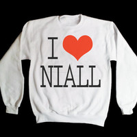 Cyber Monday Sale- 15 Dollars - One Direction I Love Niall Horan Sweatshirt x Crewneck x Jumper x Sweater - All Sizes Available