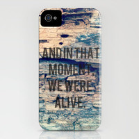 And In That Moment, We Were Alive. iPhone Case by Josrick | Society6