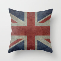 Union Jack  (3:5 Version) Throw Pillow by Bruce Stanfield