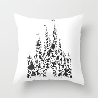 character castle... Throw Pillow by Studiomarshallarts