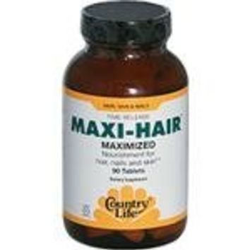 Country Life Maxi Hair Time Release, 90-Tablet
