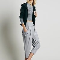 Free People Womens Cropped Knit Pant