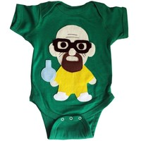 Breaking Bad Walter White Bodysuit - Handmade Felt Appliqued Onesuit
