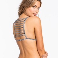 Damsel Ladder Back Bikini Top Black  In Sizes