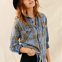Urban Renewal Washed Out Flannel Shirt- Assorted