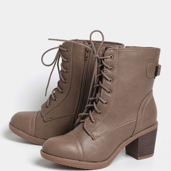 Take Me On Lace-Up Boots