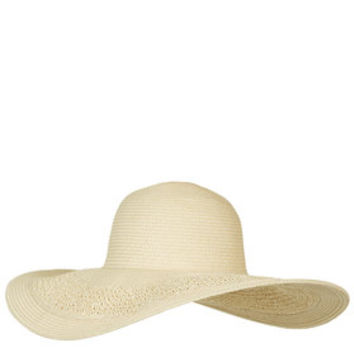 Crochet Floppy Hat - Natural