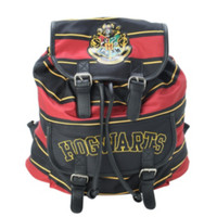Harry Potter Gryffindor Stripe Slouch Backpack