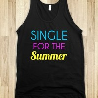 Supermarket: Single For The Summer Tank Top from Glamfoxx Shirts