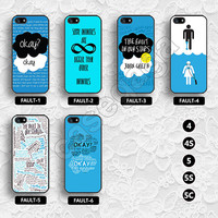 The Fault in our stars iphone 5 case iphone 5s case john green iphone 4s case iphone 5c case iphone 4 case quotes iPhone case - FAULT