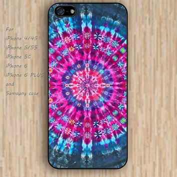 iPhone 5s 6 case colorful hot pink rainbow mandala phone case iphone case,ipod case,samsung galaxy case available plastic rubber case waterproof B323
