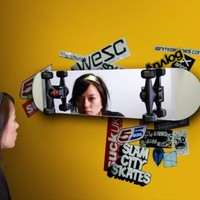 Skateboard Mirror by SUCK UK for Suck UK - Free Shipping